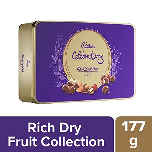 Cadbury Celebrations Rich Dry Fruit Chocolate Gift Box, 177 g & Cadbury Bournville Rich Cocoa Dark Chocolate Bar, 80 gm (Pack of 5) 3