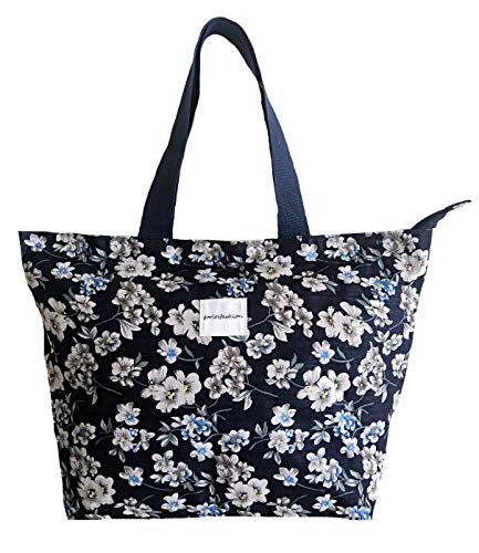 Tote Shopping Bag For Women,Coin Purse MakeUp Bag,School Backpack For Litter Girls Student (O-Tote Bag-White Floral)