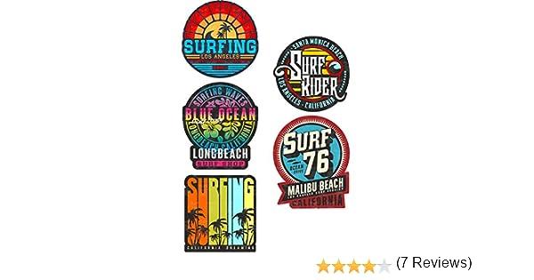 2 X Surf para la vida de pegatinas de vinilo viaje equipaje #10273