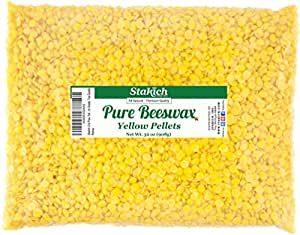 Stakich Pure YELLOW BEESWAX Pellets - 100% Natural, Cosmetic Grade, Premium Quality - 2 lb (in 1 lb bags)