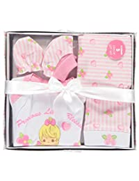 Precious Moments Baby Girls'Little Blessings 5-Piece Layette Gift Set