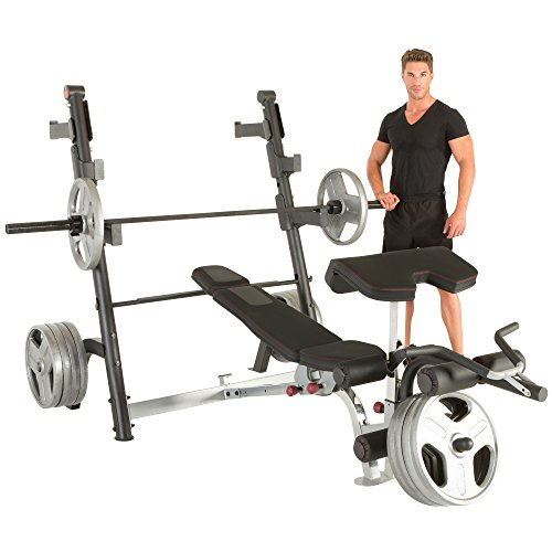 Cheap Ironman Triathlon X Class Olympic Weight Bench With Preacher Curl Leg Developer Attachment