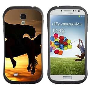 Suave TPU GEL Carcasa Funda Silicona Blando Estuche Caso de protección (para) Samsung Galaxy S4 I9500 / CECELL Phone case / / Mustang Galloping Horses Sunset Stallion /