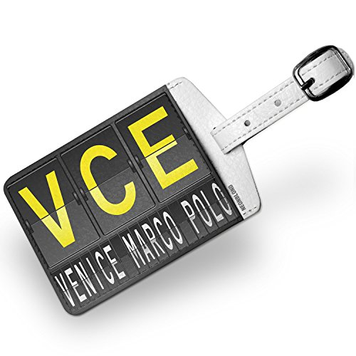 Luggage Tag VCE Airport Code for Venice - Marco Polo - NEONBLOND