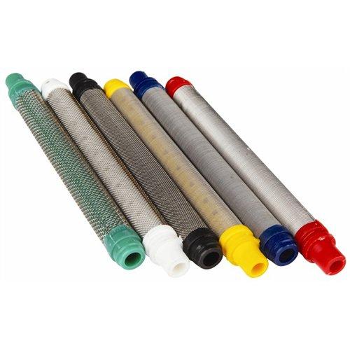 AES P.1560 - Filtro de lápiz para pistolas de pulverización sin aire, 65 malla, 10 unidades, color negro