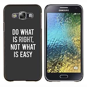 EJOOY---Cubierta de la caja de protección para la piel dura ** Samsung Galaxy E5 E500 ** --haga lo que cita el texto inspirador derecho