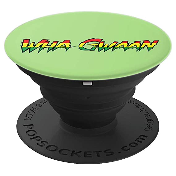 Amazon wha gwaan common patois jamaican greeting phone wha gwaan common patois jamaican greeting phone popscoket popsockets grip and stand for phones and m4hsunfo