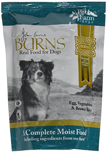Burns Moist Food Penlan Egg, Brown Rice and Vegetables for Dogs of all Ages 6 x 400 g Pouches