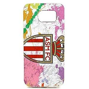 AS Monaco FC Colorful Logo Fashion Hard Phone Case for Samsung Galaxy S6 Edge Plus