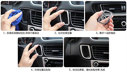 Interior medio console Key hole Frame cover Trim
