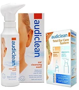 Audiclean Total Ear Care Ear Wax Remover + Cleansing Wash