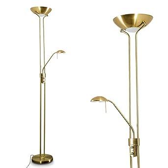Lampadaire Led à Variateur Rom Couleur Bronze Luminaire De Salon