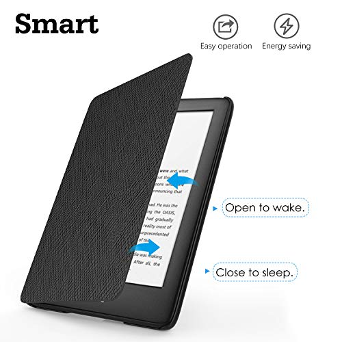 Dadanism Case Fits All-New Kindle 10th Generation 2019 Releases, [Anti-scratch] Ultra Slim Lightweight Protective Folio Smart Cover with Auto Sleep/Wake Fit Amazon All-new Kindle 2019 E-Reader – Black