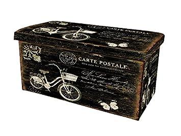 BUAR ARTESANOS Baul Puff Plegable para Almacenamiento Bicicleta ...