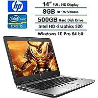 2018 HP Flagship Newest PC Business Laptop, 14 FHD (1920 X 1080) Display, Intel Core i5-6300U Dual-Core 2.4GHz, 8GB DDR4 SDRAM, 500GB 7200 RMP HDD, Intel HD Graphics 520, Win 10 Pro
