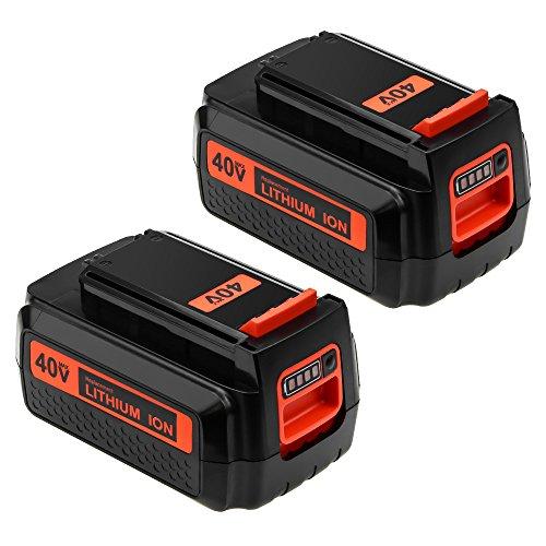 [2 Packs] 2500mAh Replace for Black and Decker 40V Battery MAX LBX2040 LBX36 LBXR36 LBXR2036