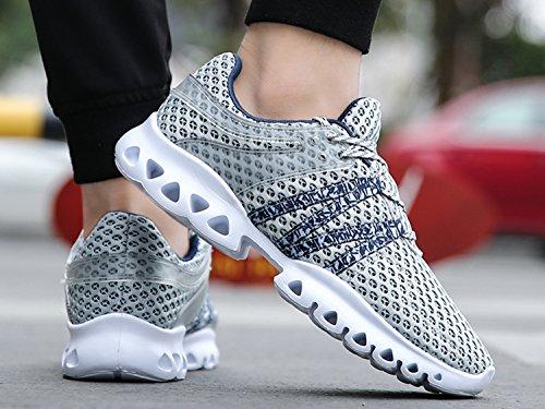 IIIIS-R Zapatillas de Deporte para Hombre Mujer Zapatos de Malla Transpirable de Verano Ligero Confortable gris