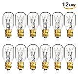 SHINE HAI Himalayan Salt Lamp Bulb 25W Dimmable Incandescent Bulbs E12 Socket Pack of 12