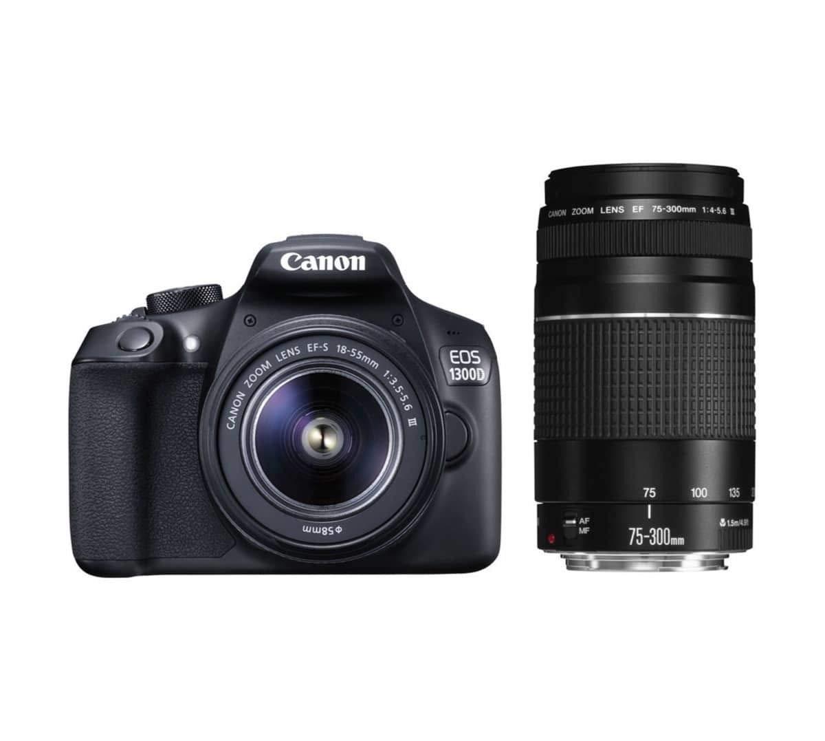 Canon EOS 1300D + 18-55mm + 75-300mm 18MP CMOS 5184 x 3456Pixeles ...