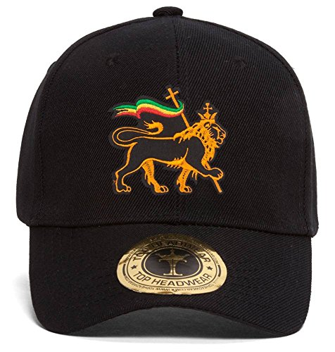Gravity Trading Rasta Lion of Judah Adjustable Baseball