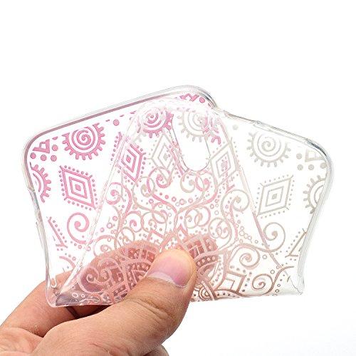 iPhone X Hülle rote Blumen Premium Handy Tasche Schutz Transparent Schale Für Apple iPhone X / iPhone 10 (2017) 5.8 Zoll + Zwei Geschenk
