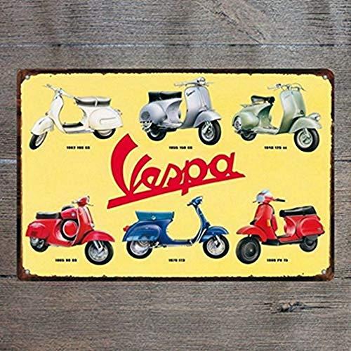 Uptell Vespa - Cartel de hojalata Vintage para Manualidades ...