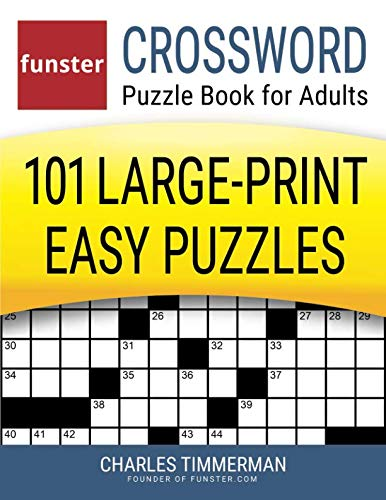 image about Usa Today Crossword Printable identify Funster Crossword Puzzle Reserve for Grown ups: 101 Substantial-Print Uncomplicated Puzzles