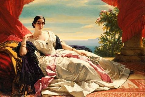 Oil Painting 'Portrait Of Leonilla, Princess Of Sayn-Wittgenstein-Sayn, 1843 By Franz Xaver Winterhalter' 8 x 12 inch / 20 x 30 cm , on High Definition HD canvas prints, Basement, Bed Room And decor