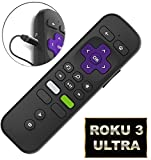 Replacement Enhanced Voice Remote with Headphone Jack Pairing Button Voice Control and Game Function for Roku Streaming Player (Roku 3/ Ultra) [No TV Power Button]