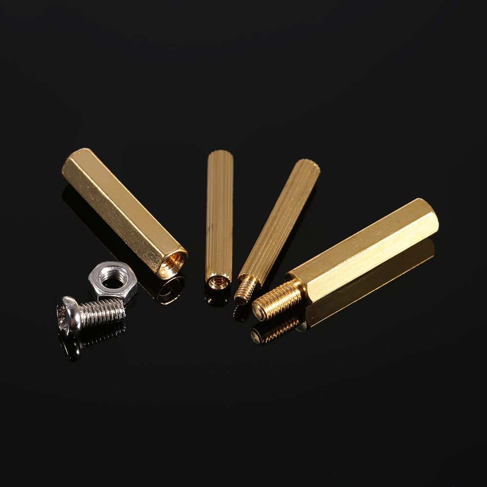 240PCS M2 M3 Tornillos Separadores Roscados Male Female Brass Standoff Spacer PCB Board Tornillos Hexagonales Tuercas Surtido Kit Hardware