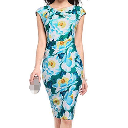 Ropa Mujer Verano Suelto Elegante Delgado Atractivo Vestido 01