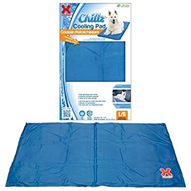Hugs Pet Products Chillz Pad Comfort Cooling Gel Pet Pad, Blue, Large (36  x 20 )