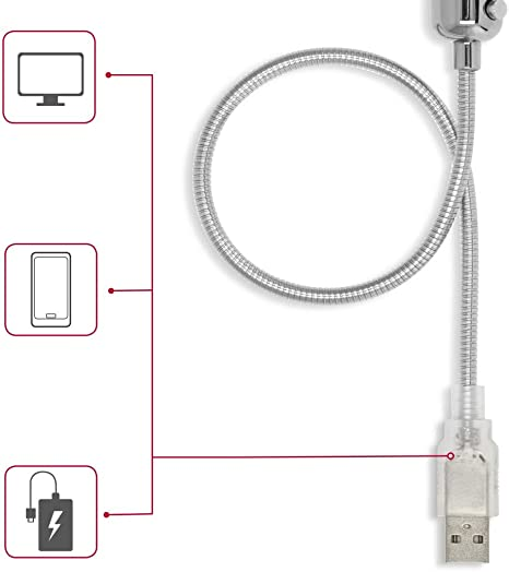 Hama Usb Ventilator Leise Mit Flexiblem Hals Und Led Computer Zubehör