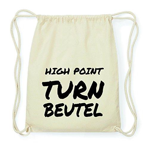 JOllify HIGH POINT Hipster Turnbeutel Tasche Rucksack aus Baumwolle - Farbe: natur Design: Turnbeutel l0Z3UQJPWI