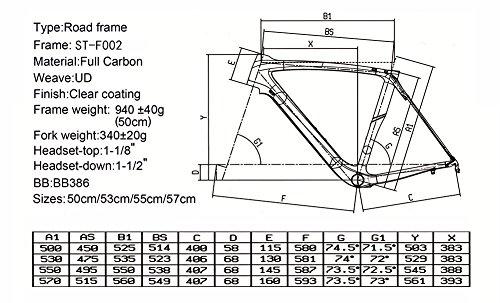 SmileTeam 2017 New Full Carbon Frame Carbon Bike Frame Road Bicycle Frame Racing Carbon Bike Frame with Fork Seatpost Clamp