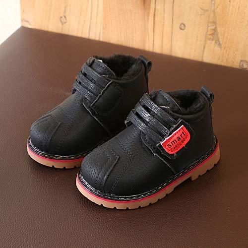 Martín Botines Caliente Nieve Niño Niña Negro Invierno De Zapatillas Botas Zapatos Gusspower qI0w11