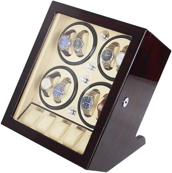 高級ワインディングマシーン ウォッチワインダー, 自動 回転させる 収納ボックス と 静音設計, 8+5腕時計収納ボックス (Color : White)