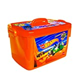 Cello Hot Wheels Kids Toy Rectangle Plastic Multi-Purpose Storage Box, Orange