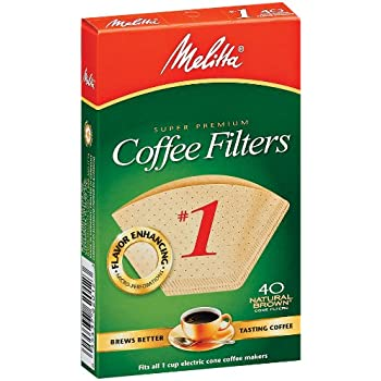 Melitta 620122 1 40 Count Natural Brown Cone Coffee Filters