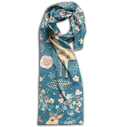 Vintage Style Deer Winter Scarves Lightweight Warm Towel Stylish Shawl Scarf Adult (Vintage Burberry Scarf)