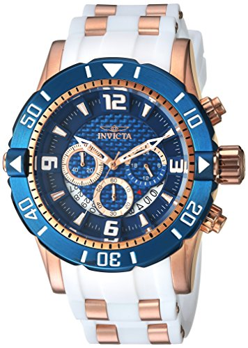 Invicta Men's 'Pro Diver' Quartz Stainless Steel and Polyurethane Diving Watch, Color:Two Tone (Model: 23709) by Invicta