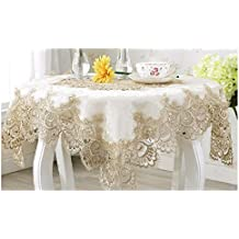 Minimal Life Home Furniture Dust Lace Cover Table Cloth Night Stand Cloth Washing Machine Cover (8585cm(Central lace))