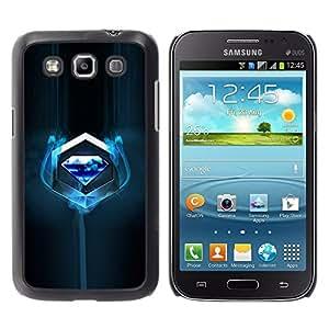 TopCaseStore / la caja del caucho duro de la cubierta de protección de la piel - Blue Diamond - Samsung Galaxy Win I8550 I8552 Grand Quattro