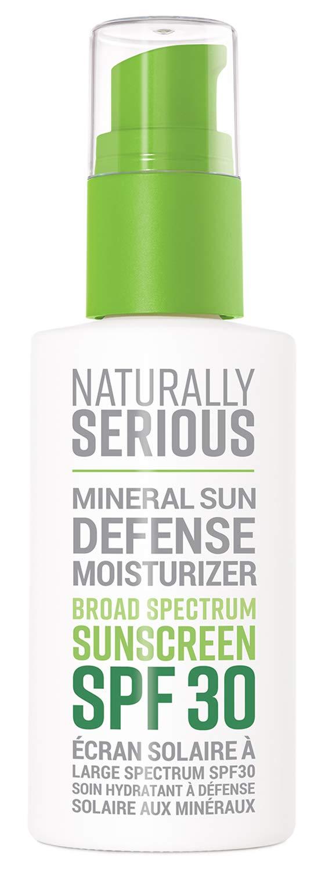 Naturally Serious - Mineral Sun Defense Moisturizer Broad Spectrum Sunscreen SPF 30 (2 fl oz | 60 ml)