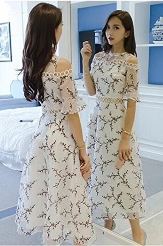 Generic Famous_Hong_Kong_flavor_ retro dress _children_ summer fairy _yarn_ 2018 new _organza_leakage_ shoulder dress