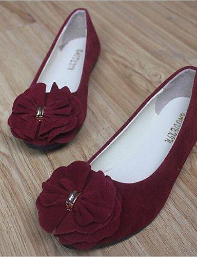 de redonda Casual gris burdeos punta plano 5 de uk3 red rosa negro Coral cn35 5 mujer blanco eu36 azul talón Flats PDX rojo us5 zapatos dqan0zxd6f