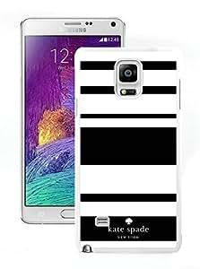 Beautiful DIY Designed Kate Spade Samsung Galaxy Note 4 N910A N910T N910P N910V N910R4 White Phone Case 003