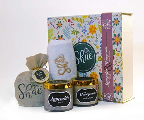 Lavender Scrub & Honeycomb Healing Salve - Shae Spa Gift Kit by Magenta Pie Co