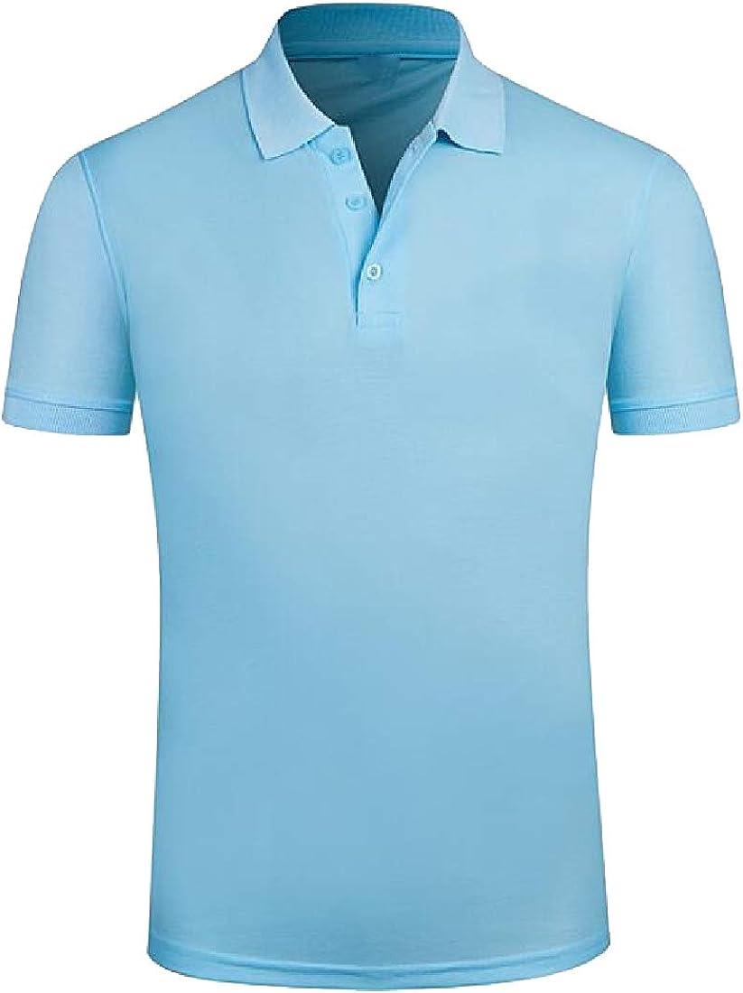 WSPLYSPJY Mens Vintage Cotton Slim Fit Short Sleeve Polo Shirts Polo T Shirt