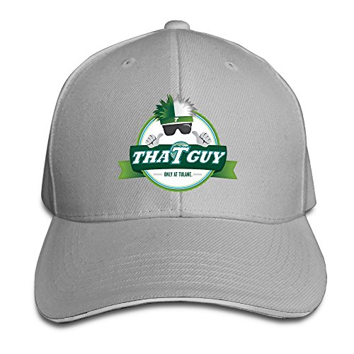 Fitted Tulane University Green Wave Snapback Hat Ash Sandwich Peaked Cap 1c0511487e6c